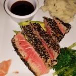 Seared, delicious tuna.